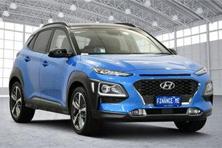 2018 Hyundai Kona OS.2 MY19 Highlander 2WD Blue Lagoon 6 Speed Sports Automatic Wagon.