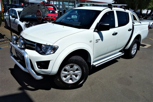 Used Mitsubishi Triton MN MY11 GL-R Double Cab, 2011 Mitsubishi Triton MN MY11 GL-R Double Cab White 5 Speed Manual Utility