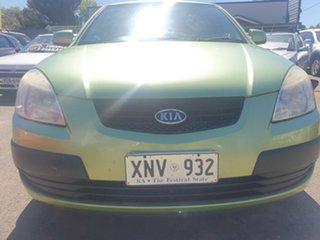 2007 Kia Rio JB MY07 LX Green 5 Speed Manual Hatchback.