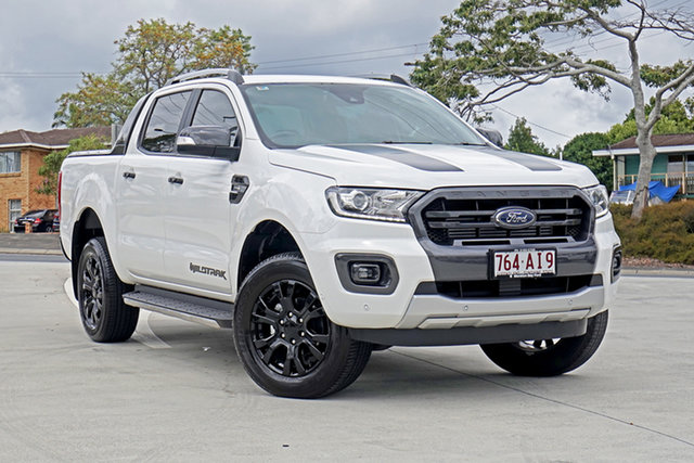 Used Ford Ranger PX MkIII 2019.00MY Wildtrak Capalaba, 2019 Ford Ranger PX MkIII 2019.00MY Wildtrak Arctic White 10 Speed Sports Automatic