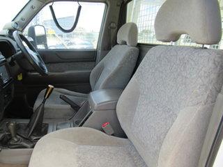 2008 Nissan Patrol GU 6 MY08 ST Abalone White 5 Speed Manual Trayback