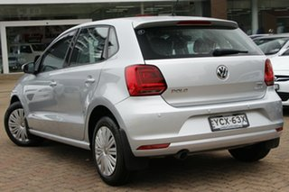 2015 Volkswagen Polo 6R MY16 81 TSI Comfortline Silver 6 Speed Manual Hatchback.