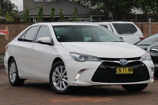 2017 Toyota Camry AVV50R Atara S Diamond White 1 Speed Constant Variable Sedan Hybrid.