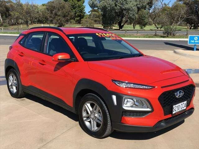 Used Hyundai Kona OS.3 MY20 Active 2WD Berri, 2019 Hyundai Kona OS.3 MY20 Active 2WD Tangerine Comet 6 Speed Sports Automatic Wagon