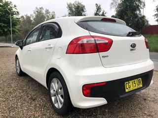 2015 Kia Rio UB MY15 S-Premium White 4 Speed Sports Automatic Hatchback.