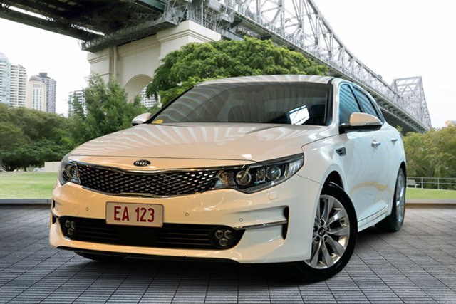 Used Kia Optima JF MY16 SI, 2016 Kia Optima JF MY16 SI White 6 Speed Sports Automatic Sedan
