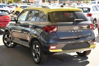 2020 Hyundai Venue QX.2 MY20 Elite Cosmic Grey & Acid Yellow Roof 6 Speed Automatic Wagon.