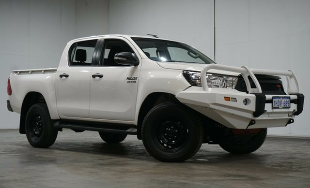 Used Toyota Hilux GUN126R SR Double Cab Welshpool, 2019 Toyota Hilux GUN126R SR Double Cab White 6 Speed Sports Automatic Cab Chassis