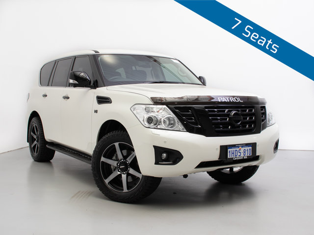 Used Nissan Patrol Y62 Series 4 MY18 TI-L (4x4), 2019 Nissan Patrol Y62 Series 4 MY18 TI-L (4x4) White 7 Speed Automatic Wagon