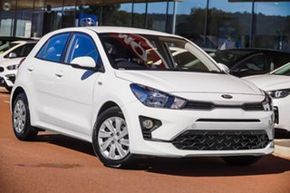 2020 Kia Rio YB MY21 S White 6 Speed Automatic Hatchback.