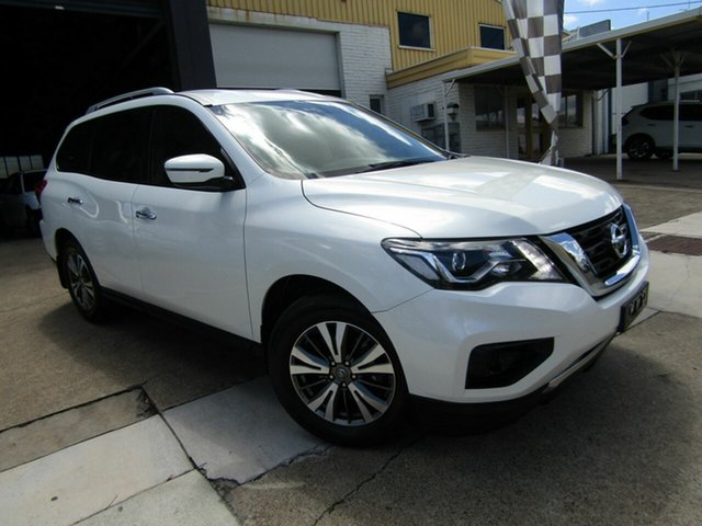 Used Nissan Pathfinder R52 Series II MY17 ST X-tronic 2WD Moorooka, 2018 Nissan Pathfinder R52 Series II MY17 ST X-tronic 2WD White 1 Speed Constant Variable Wagon