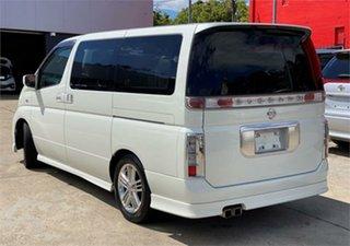 2002 Nissan Elgrand E51 Rider S White Automatic Wagon.