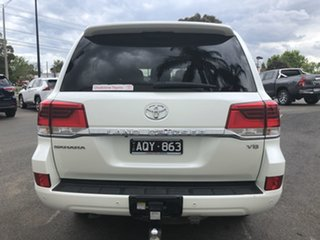2017 Toyota Landcruiser VDJ200R Sahara White 6 Speed Sports Automatic Wagon