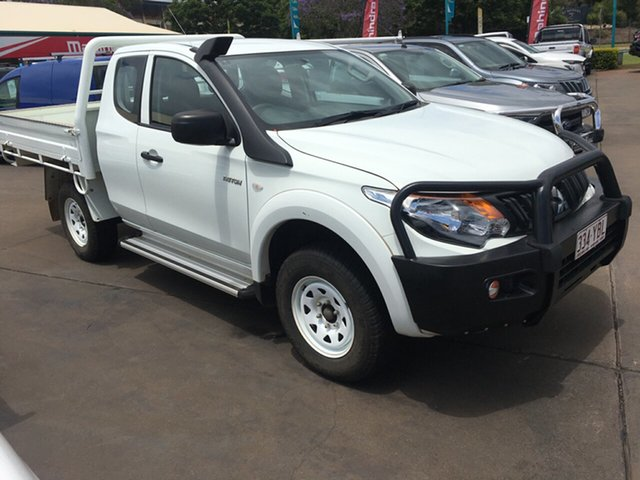 Used Mitsubishi Triton MQ MY18 GLX (4x4), 2017 Mitsubishi Triton MQ MY18 GLX (4x4) White 6 Speed Manual Club Cab Chassis