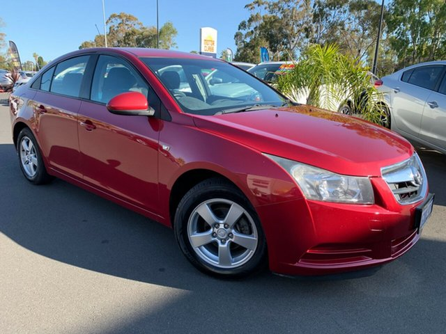 Used Holden Cruze JG CD Bunbury, 2010 Holden Cruze JG CD Red 5 Speed Manual Sedan