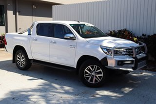 2017 Toyota Hilux GUN126R SR5 Double Cab White 6 Speed Manual Utility.
