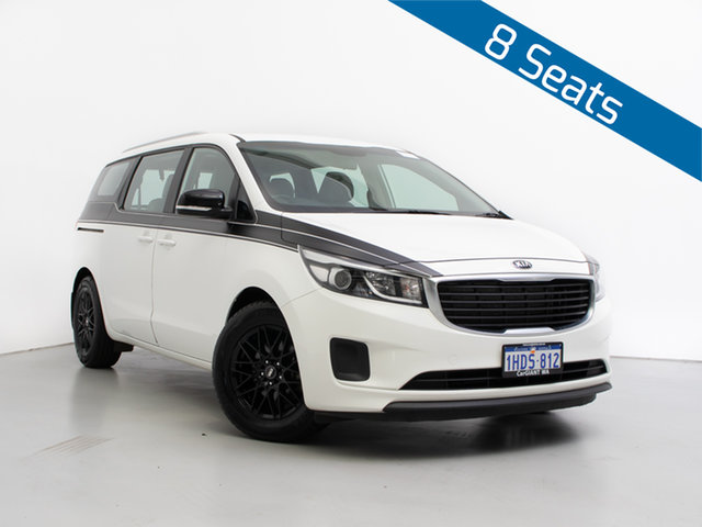Used Kia Carnival YP MY18 S, 2017 Kia Carnival YP MY18 S White 6 Speed Automatic Wagon