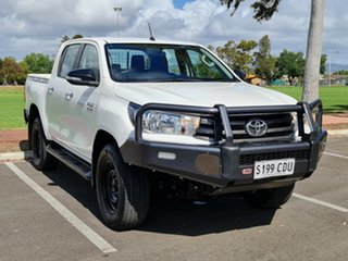 2016 Toyota Hilux GUN136R SR Double Cab 4x2 Hi-Rider White 6 Speed Manual Utility.
