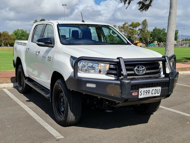 Used Toyota Hilux GUN136R SR Double Cab 4x2 Hi-Rider Nailsworth, 2016 Toyota Hilux GUN136R SR Double Cab 4x2 Hi-Rider White 6 Speed Manual Utility