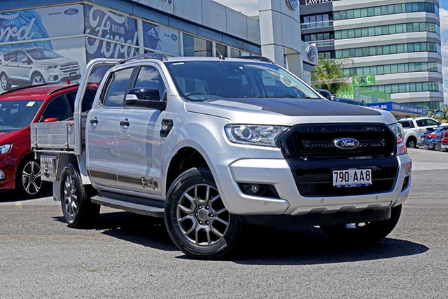 Used Ford Ranger PX MkII FX4 Double Cab Springwood, 2017 Ford Ranger PX MkII FX4 Double Cab Silver 6 Speed Sports Automatic Utility