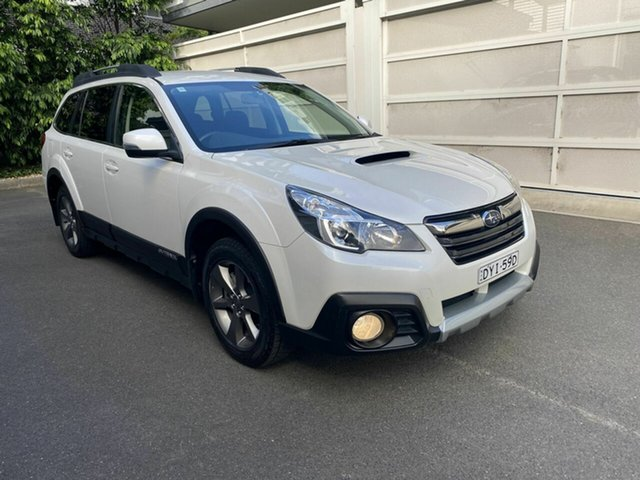 Used Subaru Outback B5A MY14 2.0D Lineartronic AWD Zetland, 2014 Subaru Outback B5A MY14 2.0D Lineartronic AWD White 7 Speed Constant Variable Wagon