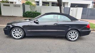 2008 Mercedes-Benz CLK-Class A209 MY08 CLK280 Avantgarde Indium Grey & Black Roof 7 Speed Automatic.
