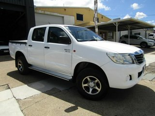 2011 Toyota Hilux GGN25R MY10 SR White 5 Speed Manual Utility.