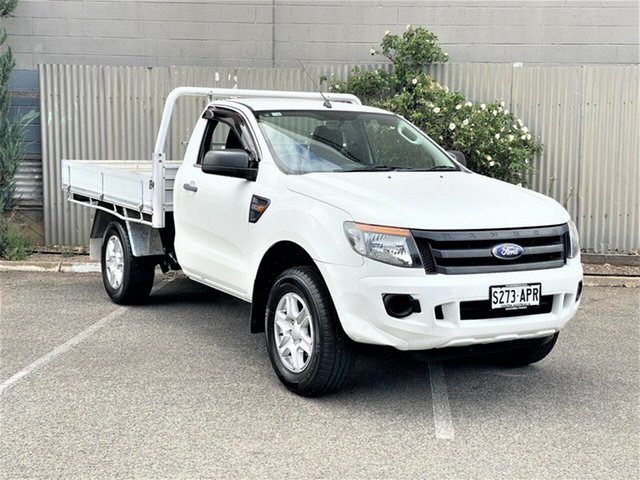 Used Ford Ranger PX XL Morphett Vale, 2011 Ford Ranger PX XL White 6 Speed Manual Cab Chassis
