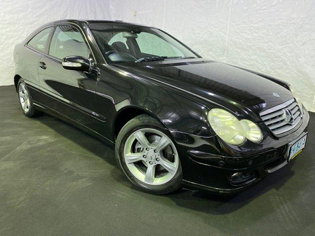 Used Mercedes-Benz C-Class CL203 MY2005 C230 Kompressor Sports Derwent Park, 2005 Mercedes-Benz C-Class CL203 MY2005 C230 Kompressor Sports Black 5 Speed Sports Automatic Coupe