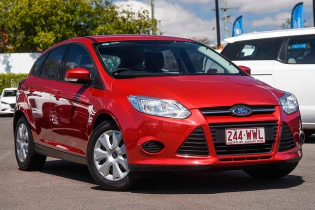 Used Ford Focus LW MkII Ambiente Mount Gravatt, 2014 Ford Focus LW MkII Ambiente Red 5 Speed Manual Hatchback