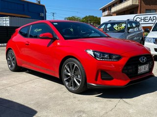 2019 Hyundai Veloster JS MY20 Coupe Red 6 Speed Automatic Hatchback.