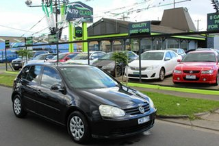 2007 Volkswagen Golf V MY08 Comfortline DSG Black 6 Speed Sports Automatic Dual Clutch Hatchback