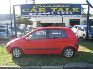 2005 Hyundai Getz TB Upgrade 1.6 Red 5 Speed Manual Hatchback.