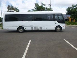 2011 Fuso Rosa Deluxe White Bus.