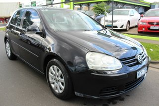 2007 Volkswagen Golf V MY08 Comfortline DSG Black 6 Speed Sports Automatic Dual Clutch Hatchback.
