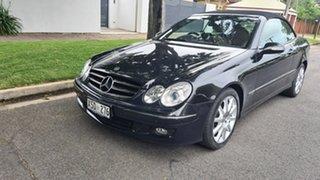 2008 Mercedes-Benz CLK-Class A209 MY08 CLK280 Avantgarde Indium Grey & Black Roof 7 Speed Automatic
