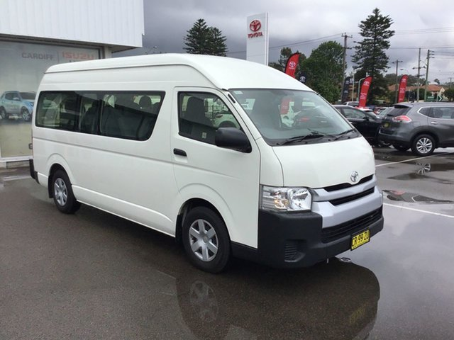Used Toyota HiAce TRH223R Commuter High Roof Super LWB Cardiff, 2017 Toyota HiAce TRH223R Commuter High Roof Super LWB White 6 Speed Automatic Bus
