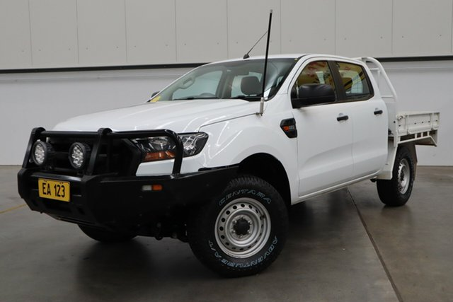 Used Ford Ranger PX MkII XL Hi-Rider Castle Hill, 2017 Ford Ranger PX MkII XL Hi-Rider White 6 Speed Sports Automatic Cab Chassis