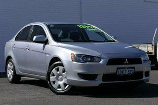 2010 Mitsubishi Lancer CJ MY11 ES Silver 6 Speed Constant Variable Sedan.