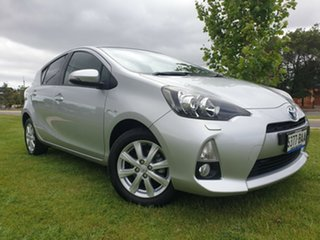 2013 Toyota Prius c NHP10R i-Tech E-CVT Silver 1 Speed Constant Variable Hatchback Hybrid.