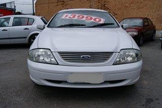 2002 Ford Falcon AUIII SR White 4 Speed Automatic Sedan.