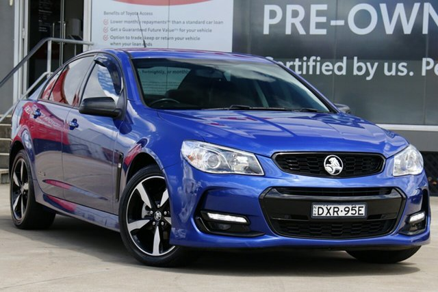 Used Holden Commodore Vfii MY16 SV6 Black Edition Guildford, 2016 Holden Commodore Vfii MY16 SV6 Black Edition Blue 6 Speed Automatic Sedan