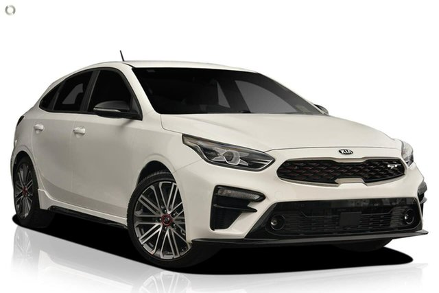 New Kia Cerato BD MY20 GT DCT, 2020 Kia Cerato BD MY20 GT DCT White 7 Speed Sports Automatic Dual Clutch Hatchback