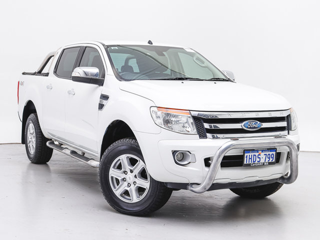 Used Ford Ranger PX XLT 3.2 (4x4), 2012 Ford Ranger PX XLT 3.2 (4x4) White 6 Speed Automatic Double Cab Pick Up