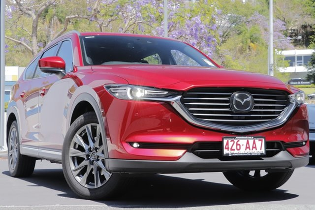 Demo Mazda CX-8 KG2W2A Asaki SKYACTIV-Drive FWD Newstead, 2020 Mazda CX-8 KG2W2A Asaki SKYACTIV-Drive FWD Soul Red Crystal 6 Speed Sports Automatic Wagon
