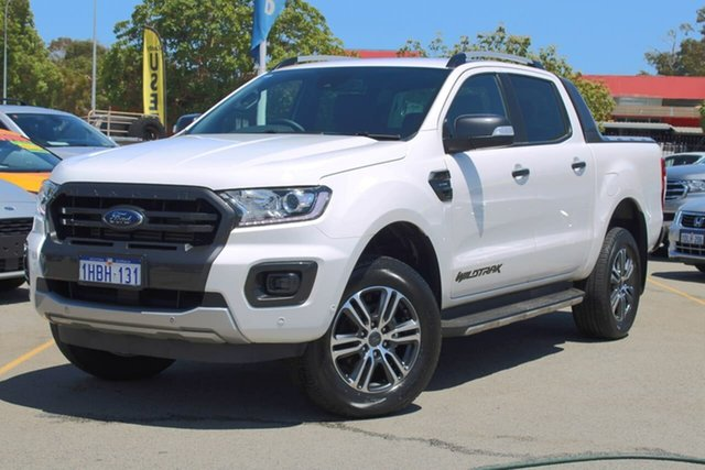 Used Ford Ranger PX MkIII 2019.75MY Wildtrak Midland, 2019 Ford Ranger PX MkIII 2019.75MY Wildtrak White 10 Speed Sports Automatic Double Cab Pick Up