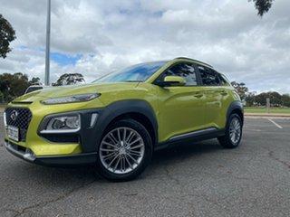 2019 Hyundai Kona OS.3 MY20 Elite 2WD Acid Yellow 6 Speed Sports Automatic Wagon.