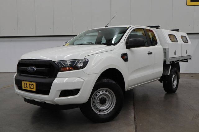 Used Ford Ranger PX MkII XL Hi-Rider Castle Hill, 2015 Ford Ranger PX MkII XL Hi-Rider White 6 Speed Sports Automatic Cab Chassis