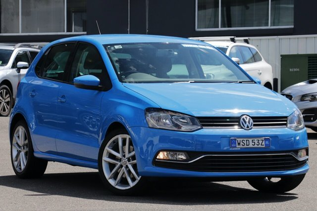 Used Volkswagen Polo 6R MY15 81TSI Comfortline Brookvale, 2014 Volkswagen Polo 6R MY15 81TSI Comfortline Blue 6 Speed Manual Hatchback
