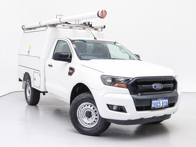 Used Ford Ranger PX MkII MY17 XL 3.2 (4x4), 2016 Ford Ranger PX MkII MY17 XL 3.2 (4x4) White 6 Speed Automatic Cab Chassis